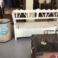 Bench, Trug & Taystee Coffee Table