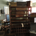 Wood Industrial Rack - Assorted Wood Crates
