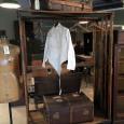Industrial Rolling Rack, Oak Display Cabinet, Trunks & Suitcases