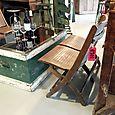 Double Wood Folding Chairs/Bench & Barn Box