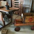 Wagon, Bond Bread Crate, Drawer Unit
